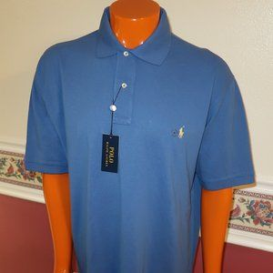 NWT MENS POLO RALPH LAUREN POLO SHIRT SZ XLT BLUE